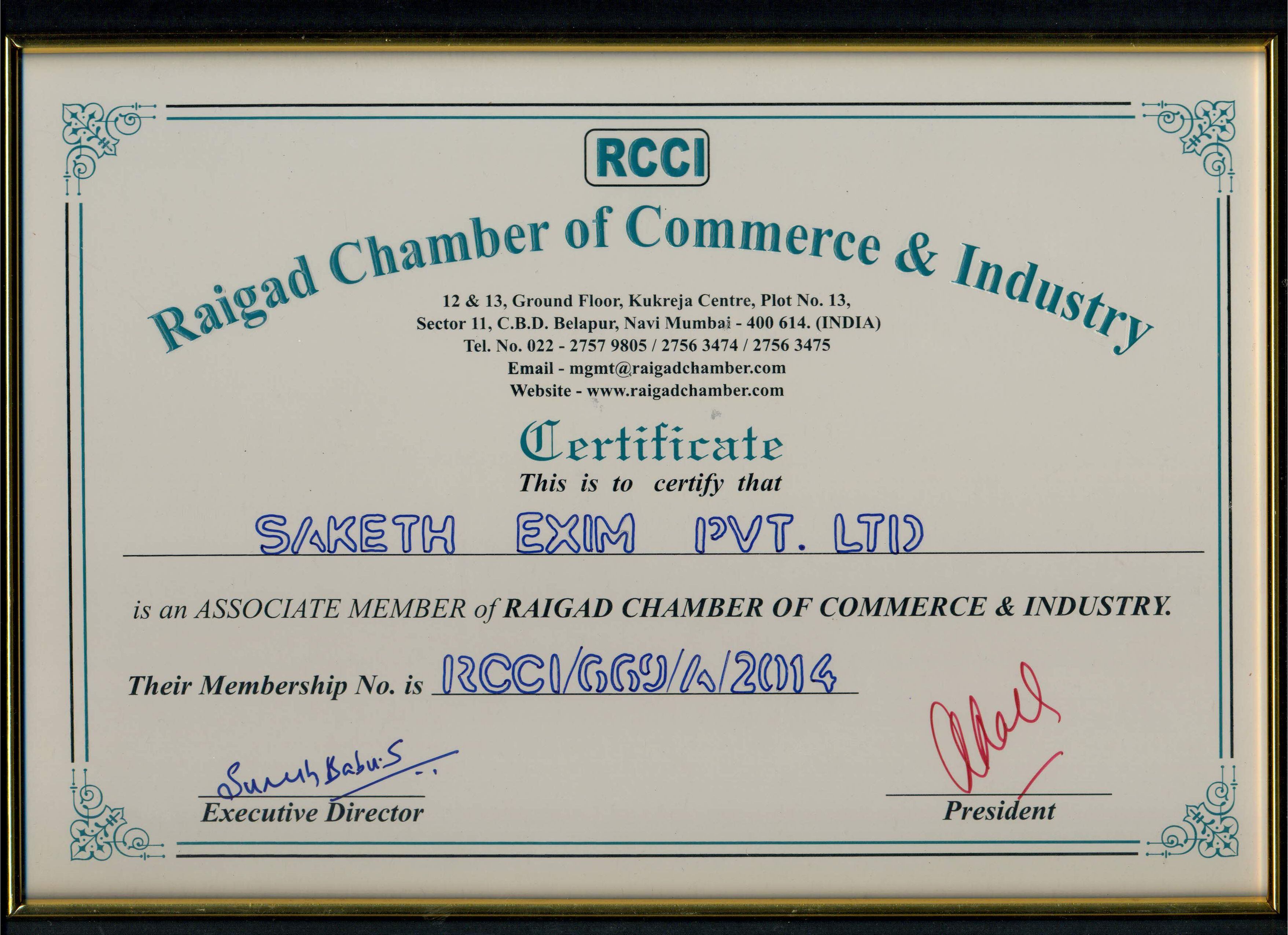 Raigad Chamber of Commerce Industry